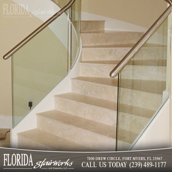 Marble Stairways in Ft Myers Florida