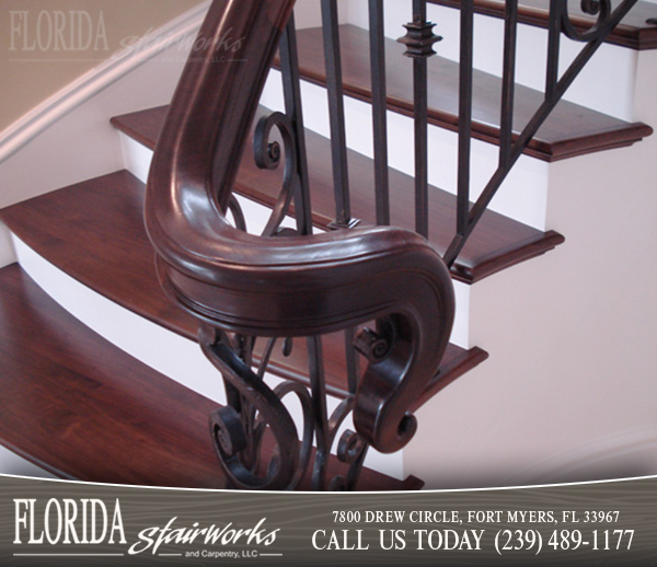 Stairway Handrails in Ft Myers Florida