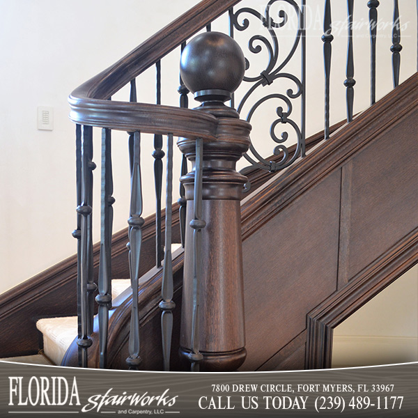 Stairway Newel Posts in Ft Myers Florida