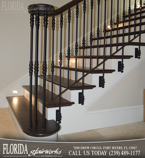 Lovely Wood And Metal Stairways