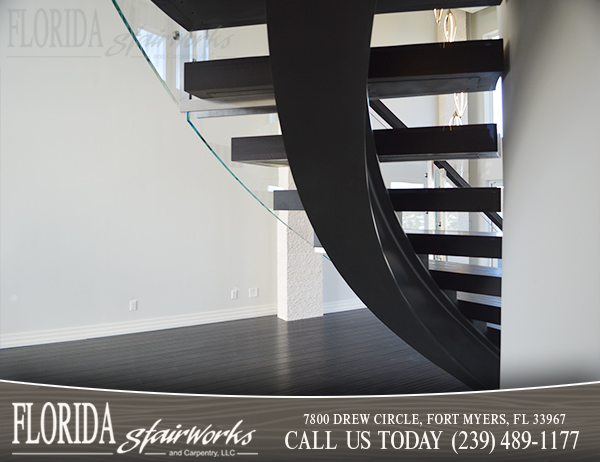 Curved Stairways in Marco Island Florida