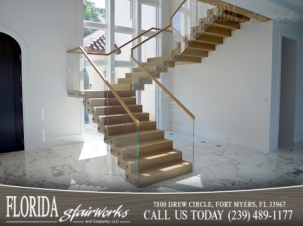 Glass Stairways in Marco Island Florida