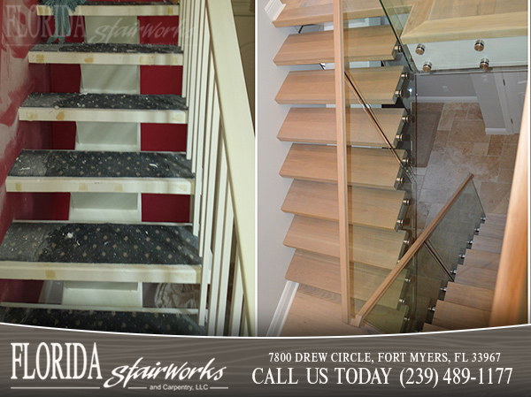 Stairway Remodeling in Marco Island Florida