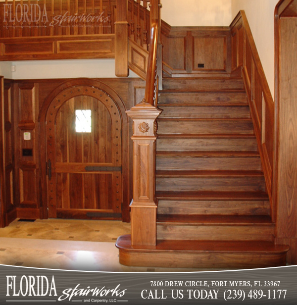 Walnut Stairways in Marco Island Florida