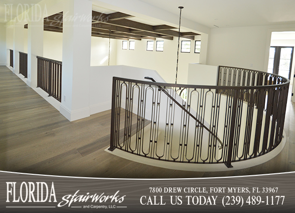 Stairway Banisters in West Palm Beach Florida