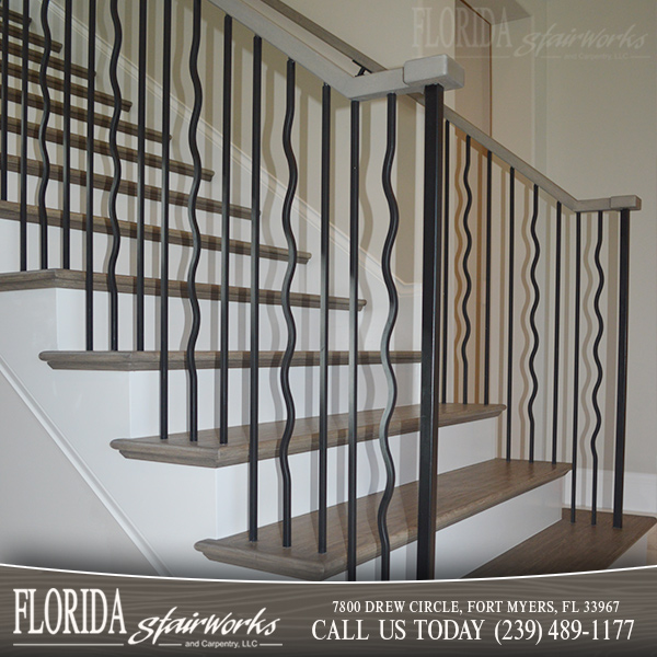 Stairway Metal Spindles In West Palm Beach